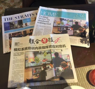 XVR headlining Singaporean newspapers