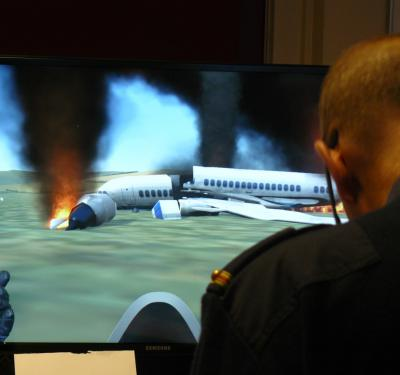 Aviation incident training at Rotterdam Airport